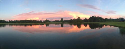 Sunset over the pond